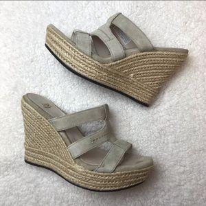 UGG Tawnie Suede Wedge Sandals - sz 10